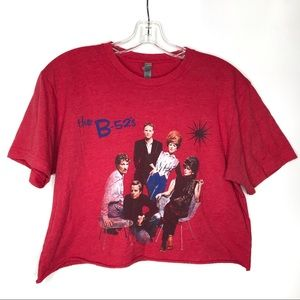B-52s cropped t-shirt Next Level band tee graphic